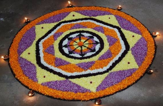 Indian Floral Design For Onam Festival (23)