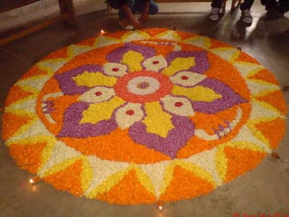 Indian Floral Design For Onam Festival (24)
