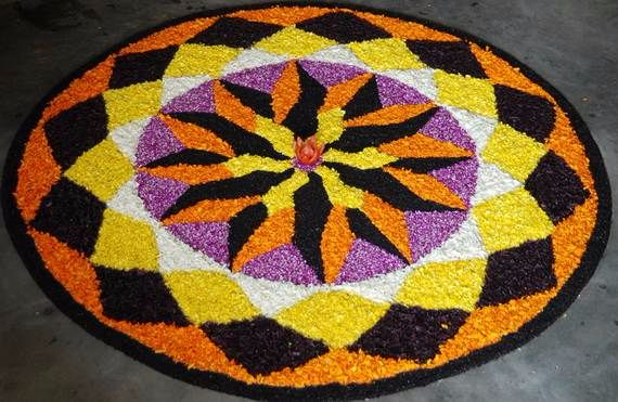 Indian Floral Design For Onam Festival (26)