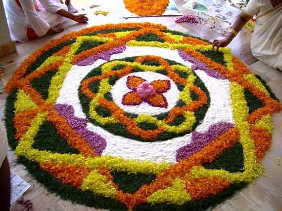 Indian Floral Design For Onam Festival (27)