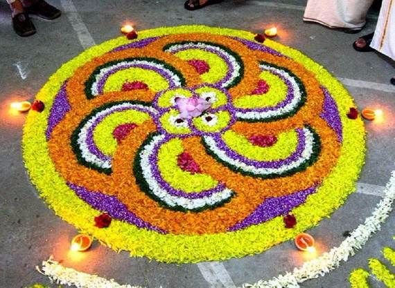 Indian Floral Design For Onam Festival (28)