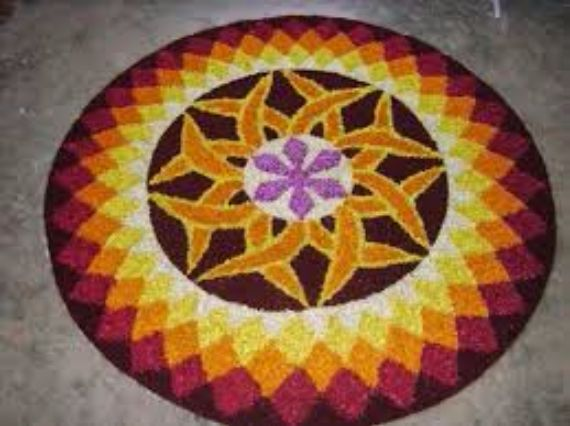 Indian Floral Design For Onam Festival (3)