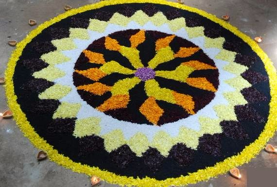 Indian Floral Design For Onam Festival (30)