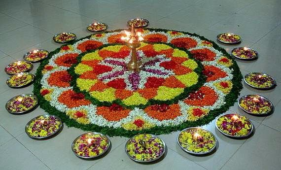 Indian Floral Design For Onam Festival (31)