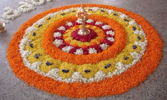 Indian Floral Design For Onam Festival (32)