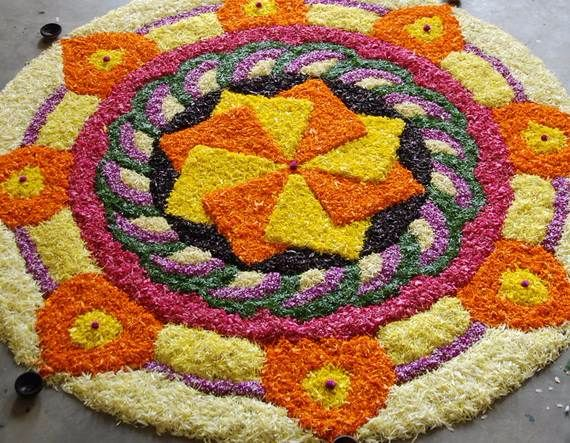 Indian Floral Design For Onam Festival (33)