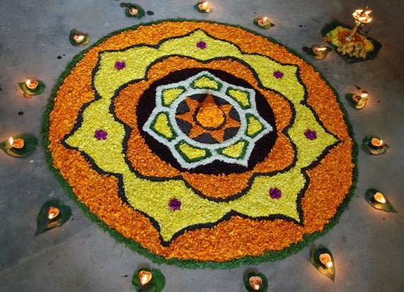 Indian Floral Design For Onam Festival (34)