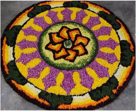 Indian Floral Design For Onam Festival (35)