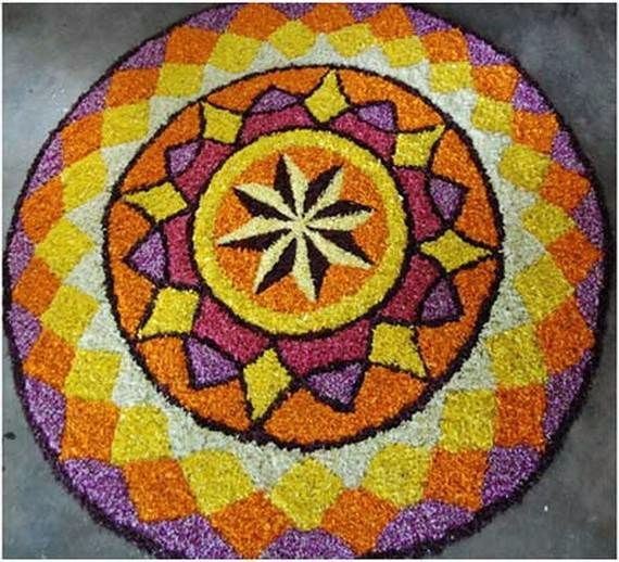 Indian Floral Design For Onam Festival (36)
