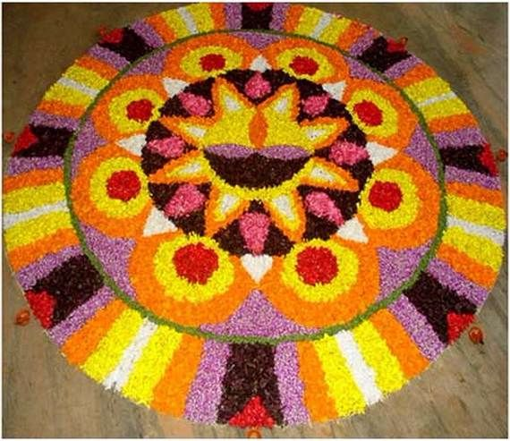 Indian Floral Design For Onam Festival (37)