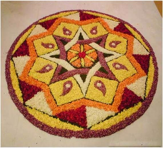 Indian Floral Design For Onam Festival (40)