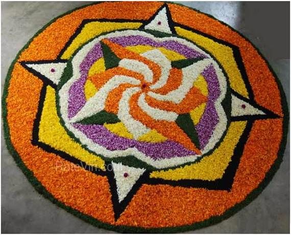 Indian Floral Design For Onam Festival (41)