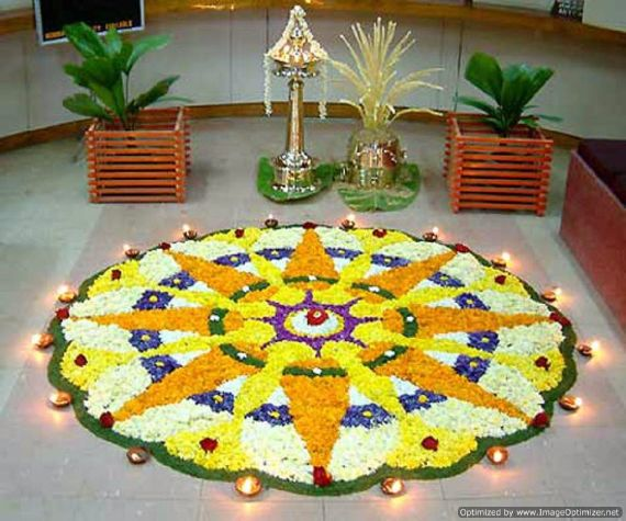 Indian Floral Design For Onam Festival (44)