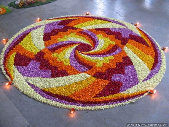 Indian Floral Design For Onam Festival (5)