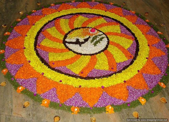 Indian Floral Design For Onam Festival (8)