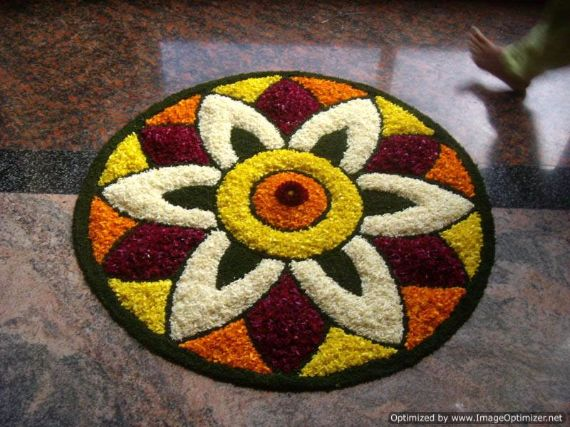Indian Floral Design For Onam Festival (9)