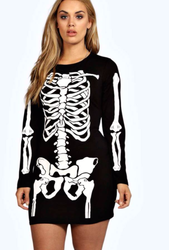 Women/'s Skeleton Beauty Plus Size Costume