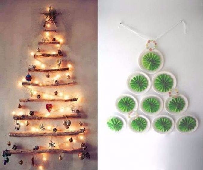 Wall Christmas Tree Alternative Ideas 20