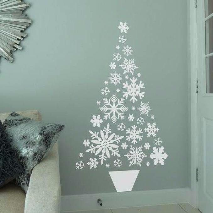 Wall Christmas Tree Alternative Ideas 59