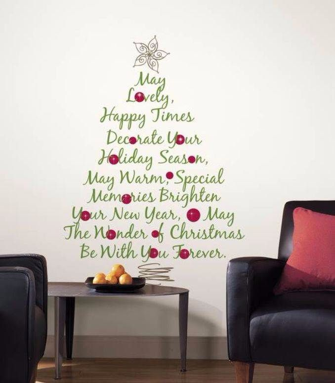 Wall Christmas Tree Alternative Ideas 62