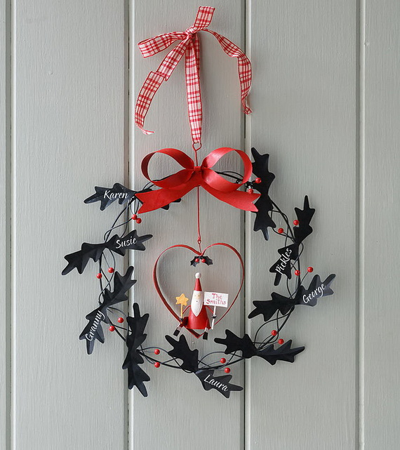 50 Great Christmas Wreath Ideas To Keep The Traditions Alive_47