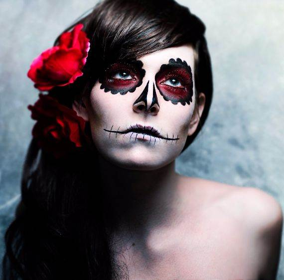 50 Halloween Best Calaveras Makeup Sugar Skull Ideas for Women (12)