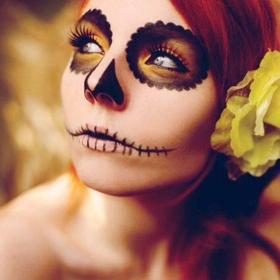 50 Halloween Best Calaveras Makeup Sugar Skull Ideas for Women (13)