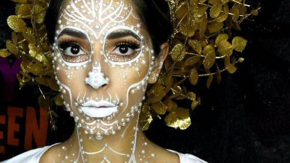 50 Halloween Best Calaveras Makeup Sugar Skull Ideas for Women (3)