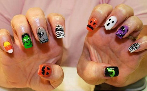 Gorgeous Ghastly Halloween Nail Art Designs (1)