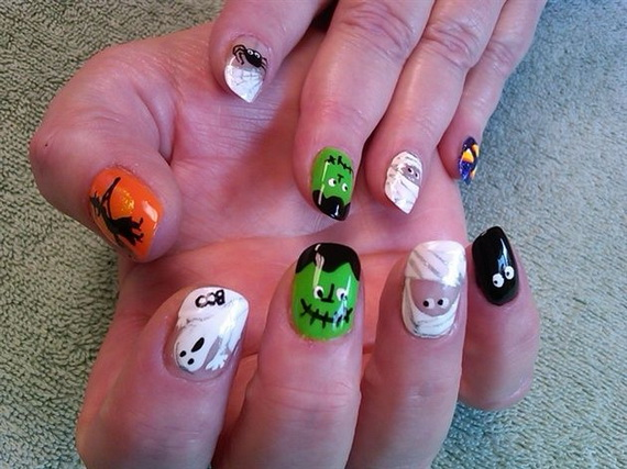 Gorgeous Ghastly Halloween Nail Art Designs (11)