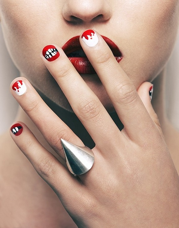 Gorgeous Ghastly Halloween Nail Art Designs (12)