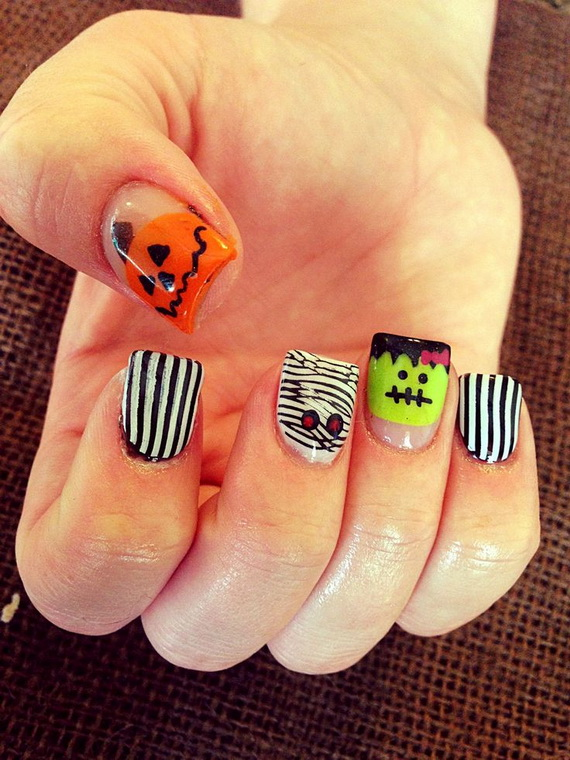 Gorgeous Ghastly Halloween Nail Art Designs (17)