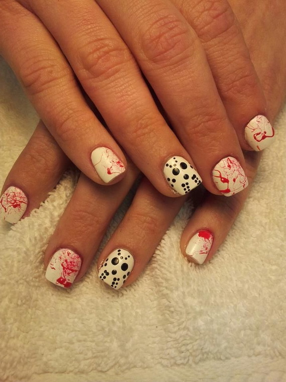 Gorgeous Ghastly Halloween Nail Art Designs (18)