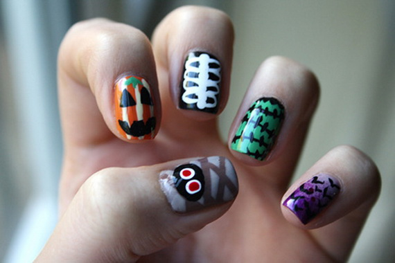Gorgeous Ghastly Halloween Nail Art Designs (2)
