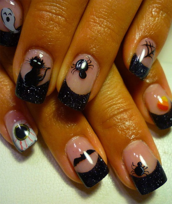 Gorgeous Ghastly Halloween Nail Art Designs (20)