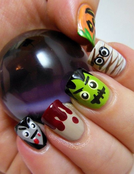 Gorgeous Ghastly Halloween Nail Art Designs (21)