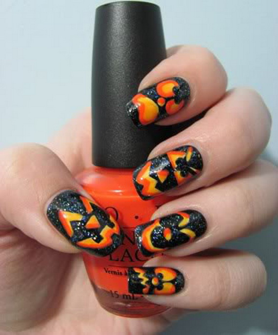 Gorgeous Ghastly Halloween Nail Art Designs (3)
