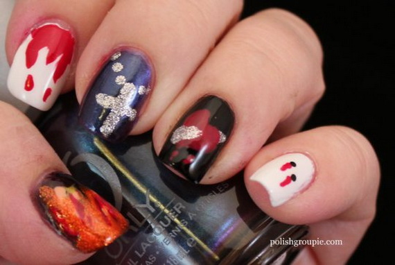 Gorgeous Ghastly Halloween Nail Art Designs (32)
