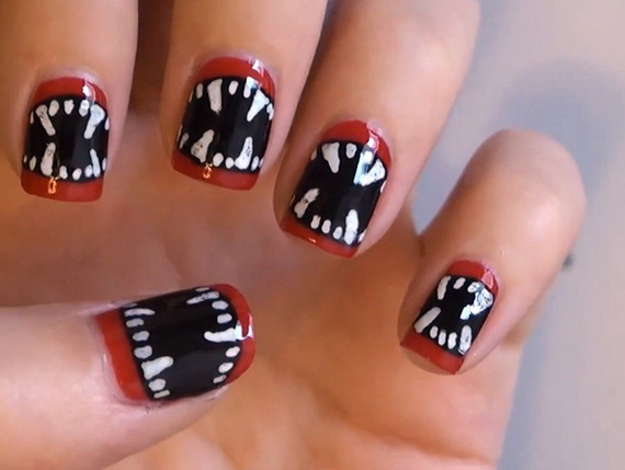 Gorgeous Ghastly Halloween Nail Art Designs (42)