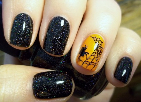 Gorgeous Ghastly Halloween Nail Art Designs (43)