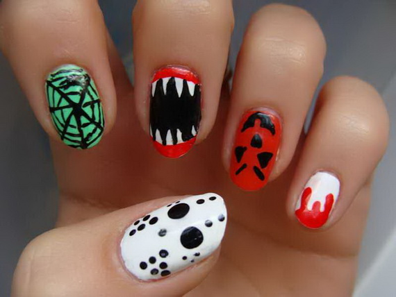 Gorgeous Ghastly Halloween Nail Art Designs (48)