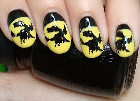 Gorgeous Ghastly Halloween Nail Art Designs (5)