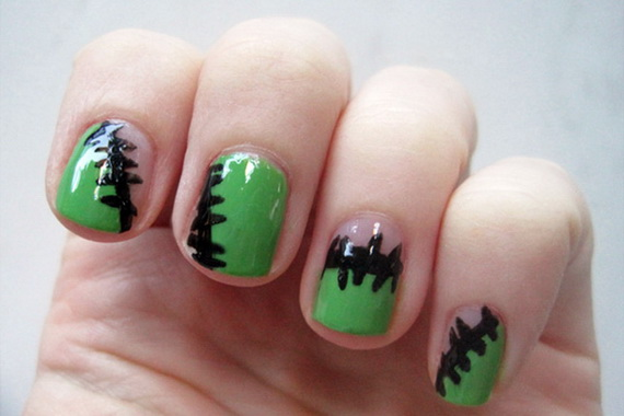 Gorgeous Ghastly Halloween Nail Art Designs (50)