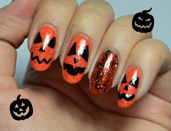 Gorgeous Ghastly Halloween Nail Art Designs (51)