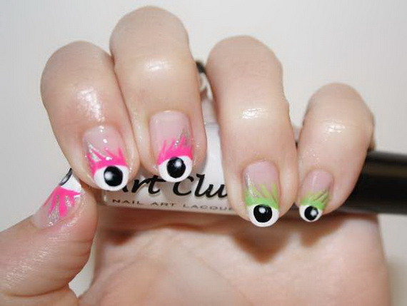 Gorgeous Ghastly Halloween Nail Art Designs (7)