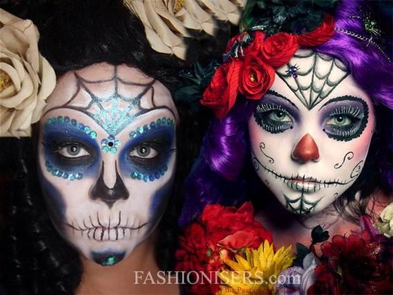 Halloween-Best-Calaveras-Makeup-Sugar-Skull-Ideas-for-Women (15)