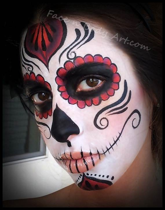 Halloween-Best-Calaveras-Makeup-Sugar-Skull-Ideas-for-Women (18)