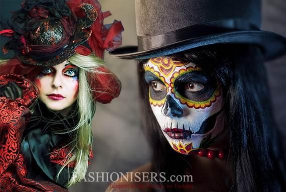 Halloween-Best-Calaveras-Makeup-Sugar-Skull-Ideas-for-Women (27)