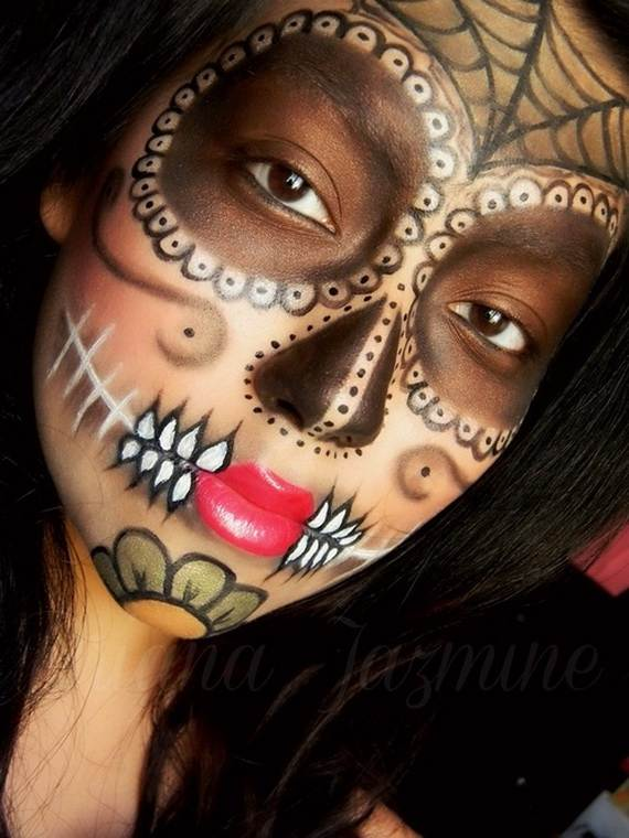 Halloween-Best-Calaveras-Makeup-Sugar-Skull-Ideas-for-Women (3)