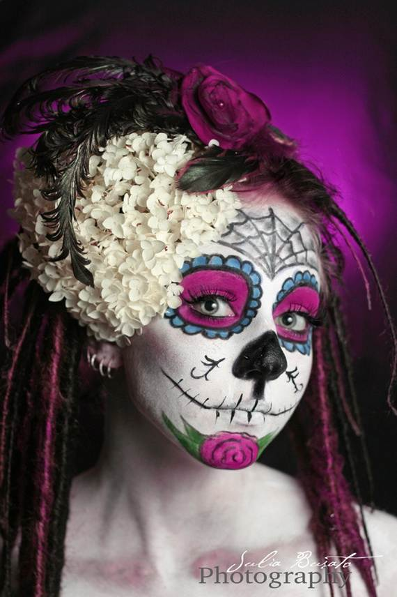 Halloween-Best-Calaveras-Makeup-Sugar-Skull-Ideas-for-Women (31)